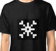 8-bit Snowflake Graphic Classic T-Shirt