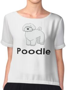 Poodle Dog T-Shirt Chiffon Top