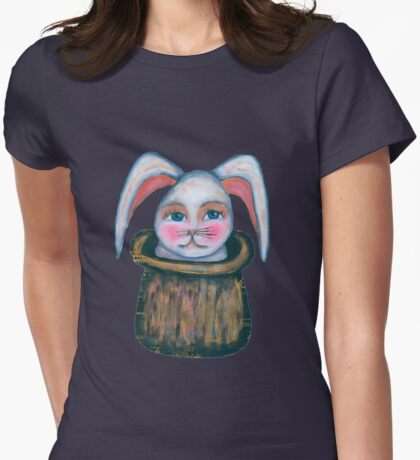 rabbit in the hat Womens Fitted T-Shirt