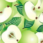 Apple seamless pattern by maystra