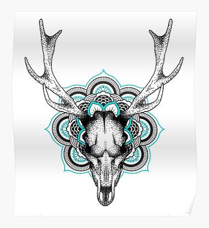 Mandala deer Poster