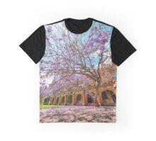 Jacaranda at the University of Sydney Quadrangle (Vertical) Graphic T-Shirt