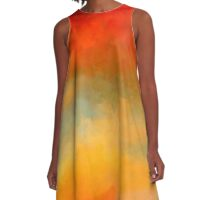 Sunset Colors Abstract Painting A-Line Dress A-Line Dress