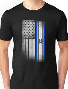 Israeli American Flag Unisex T-Shirt