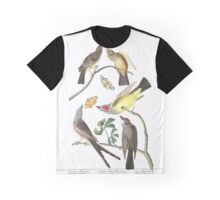 Arkansaw Flycatcher, Swallow-Tailed Flycatcher, Says Flycatcher, by John Audubon Graphic T-Shirt