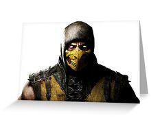 Mortal Kombat X - Scorpion Greeting Card