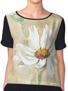 Scattered Daisy leaves Chiffon Top