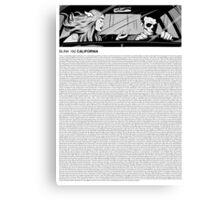 blink-182 - California (lyrics) Canvas Print