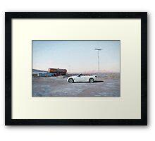 White BMW Framed Print