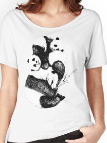 1 panda, 2 pandas, 3 pandas! Women's Relaxed Fit T-Shirt