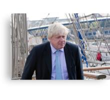 Mayor Boris Johnson marks Totally Thames with visit to TS Tenacious Canvas Print