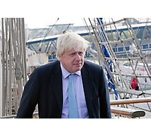Mayor Boris Johnson marks Totally Thames with visit to TS Tenacious Photographic Print