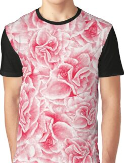 pattern with watercolor pink flowers Graphic T-Shirt
