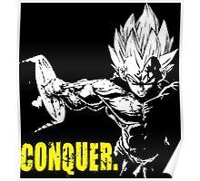 CONQUER - Vegeta Hardcore Squat Poster