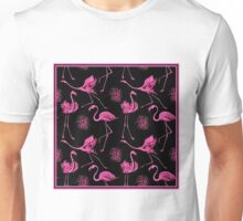 flamingo abstract; Vintage Art Print Unisex T-Shirt