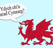Speech bubble - do you speak Welsh, Ydych chi'n siarad Cymraeg? by stuwdamdorp