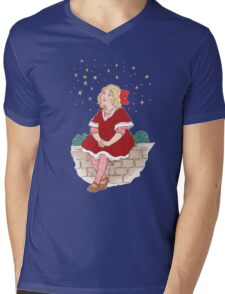 Waiting for Santa Mens V-Neck T-Shirt
