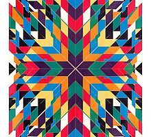 Triangles 3 abstract tribal pattern by mikath