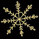 Gold metallic effect snowflake transparent background by Sandra O'Connor