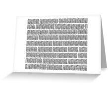 Big city line art black & white Greeting Card