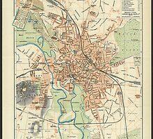 Vintage Map of Hanover Germany (1895) by BravuraMedia