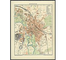 Vintage Map of Hanover Germany (1895) Photographic Print