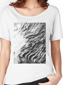 Waves of Grain in Grey  Women's Relaxed Fit T-Shirt