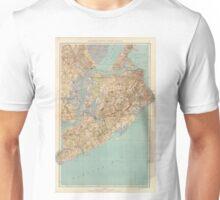 Vintage Map of Staten Island (1891) Unisex T-Shirt