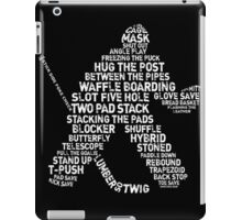 Hockey Goalie Calligram  iPad Case/Skin