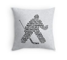 Hockey Goalie Calligram  Throw Pillow