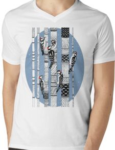 Woodpeckers Forest Mens V-Neck T-Shirt