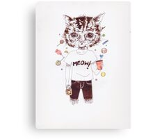 Cat attire! Canvas Print