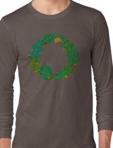 Oak Leaves and Acorns Long Sleeve T-Shirt