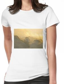 Misty Autumn Morning Womens Fitted T-Shirt