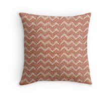 Sparkle chevron rose gold Throw Pillow