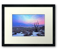 Nevada Winter Pre Sunrise  Framed Print