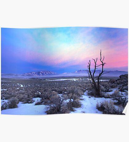 Nevada Winter Pre Sunrise  Poster