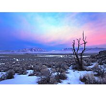 Nevada Winter Pre Sunrise  Photographic Print
