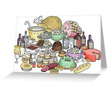 Feast foods Greeting Card