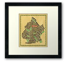 Brooklyn New York Typography Map Framed Print