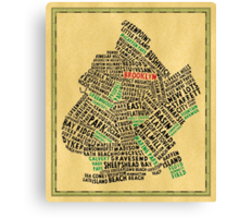 Brooklyn New York Typography Map Canvas Print