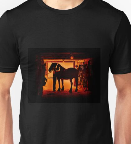 Grooming The Mighty Percheron Unisex T-Shirt