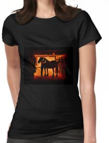 Grooming The Mighty Percheron Womens Fitted T-Shirt