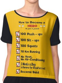 One Punch Man - How to Become a Hero Chiffon Top