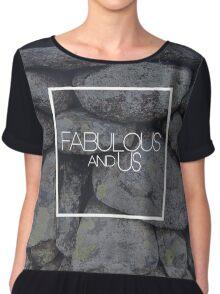 Fabulous and Us: Stone Chiffon Top