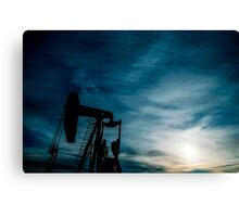 Oil Country Canvas Print
