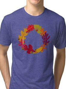 Autumn Oak Leaves and Acorns Tri-blend T-Shirt