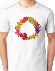 Autumn Oak Leaves and Acorns Unisex T-Shirt