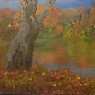 Autumn Pond by Holly Martinson