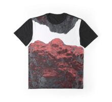 3D Red Rock Graphic T-Shirt